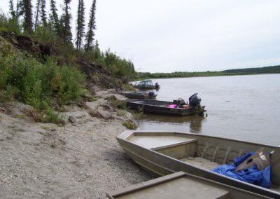 Eroding Huslia Boat Landing